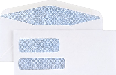 Staples Standard Invoice Double Window Security-Tint Gummed #9 Envelopes, 500/Box