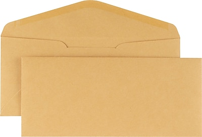 Staples #16, Brown Kraft Gummed Envelopes, 500/Box (QUA25762)