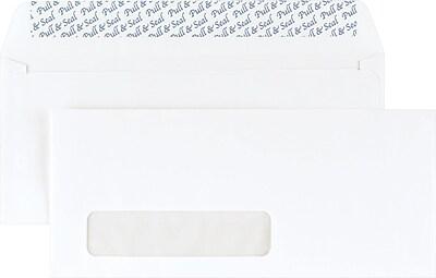 Staples EasyClose Left Window #10 Envelopes, 4 1/8