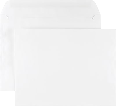 Staples Gummed Flap Side-Opening Booklet Envelopes, 6