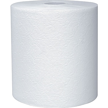 Kleenex® Hardwound Paper Towel Rolls, 425', White, 1-Ply, 12 Rolls/Case