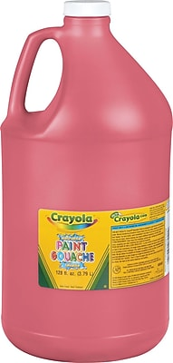 Binney & Smith Crayola® Washable Paints, Red, 1 Gallon