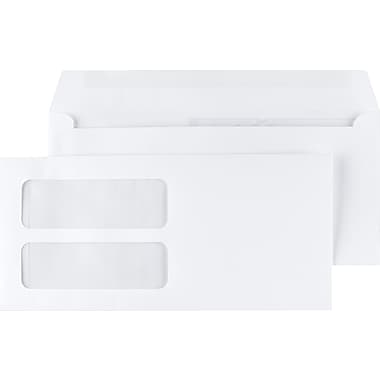 Staples Double-Window Gummed Envelopes for Laser Forms, 500/Box (473949/19049)