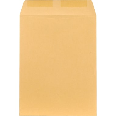 Staples Gummed Flap Kraft Catalog Envelopes, 9-1/2