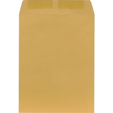 Staples Heavily Gummed Kraft Catalog Envelopes, 10