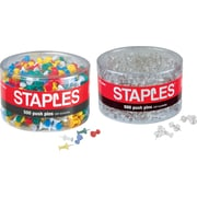 Staples® Push Pins - 500 Count Tub