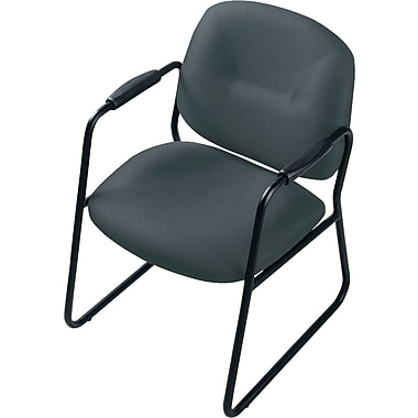 Staples® Fabric Guest Chair, Jenny Black