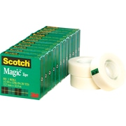 """Scotch® Magic™ Tape, 1/2"""" x 1,296"""", 1 Box/Pack (810-1/2X36-12PK)"""