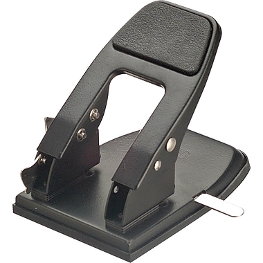 OIC Heavy-Duty 2-Hole Punch with Padded Handle, Black