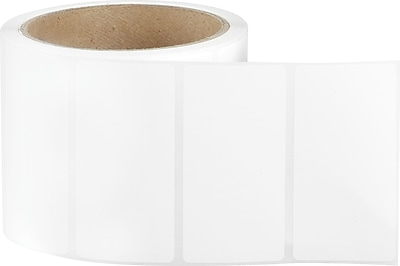 3 x 1-1/2 Perfed White Permanent Adhesive Thermal Transfer Roll Sato Compatible Label/Ribbon Kit
