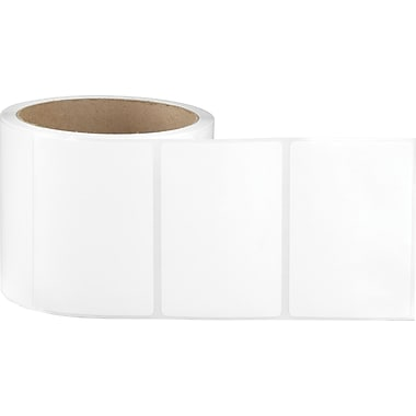 3 x 2 White Permanent Adhesive Thermal Transfer Roll Sato Compatible Label/Ribbon Kit