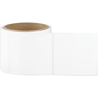 3 x 3 White Permanent Adhesive Thermal Transfer Roll Sato Compatible Label/Ribbon Kit
