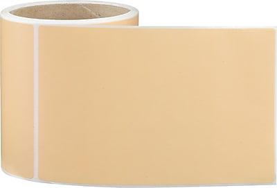 4 x 6 Perfed Orange Permanent Adhesive Thermal Transfer Roll Sato Compatible Label/Ribbon Kit