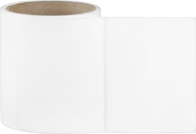 4 x 6 Perfed White Permanent Adhesive Thermal Transfer Roll Zebra Compatible Label/Ribbon Kit