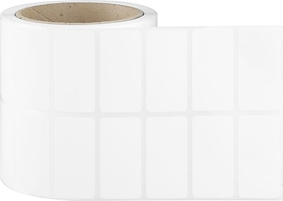 2 x 1 (2 Across) Perfed White Permanent Thermal Transfer Roll Intermec Compatible Label/Ribbon Kit
