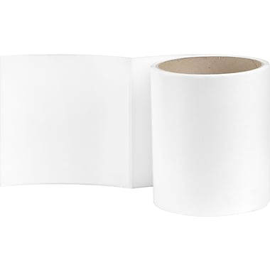 4 x 4 Perfed White Permanent Adhesive Thermal Transfer Roll Label, Wound In