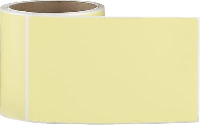 4 x 6 Perfed Yellow Permanent Adhesive Thermal Transfer Roll Label