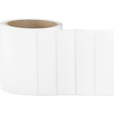 4 x 1 Perfed White Permanent Adhesive Thermal Transfer Roll Label