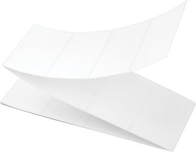4 x 2-1/2 Perfed White Permanent Thermal Transfer Fanfold Intermec Compatible Label/Ribbon Kit