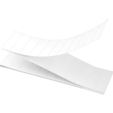 3-1/2 x 1 Perfed White Permanent Adhesive Thermal Transfer Fanfold Zebra Compatible Label/Ribbon Kit