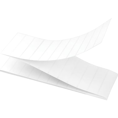4 x 1 Perfed White Permanent Adhesive Thermal Transfer Fanfold Intermec Compatible Label/Ribbon Kit