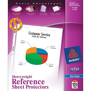 Avery® Heavyweight Non-Glare Sheet Protectors, 100/Pack