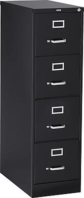 Staples 4 Drawer Letter Size Vertical File Cabinet Black
