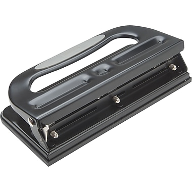 Staples 24549/33989 Heavy-Duty Adjustable Hole Punch Circle, Black