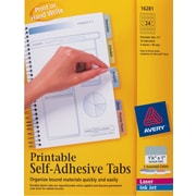 "Avery® 1-1/4"" White Printable Self-Adhesive Tabs"