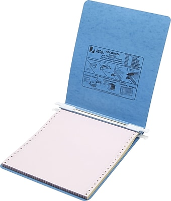 Acco Hanging Data 1-Inch Post-Style Nonview Binder, Light Blue (54052)