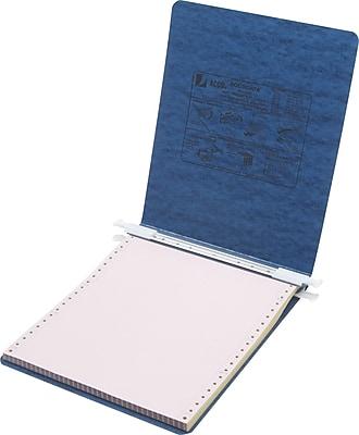 ACCO® PRESSTEX® Cover Data Binder with Storage Hooks, Dark Blue, 9-1/2