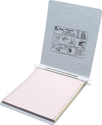Acco® Hanging Data Binders Presstex® Cover, Light Gray, 9 1/2