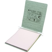 "Acco® Hanging Data Binders Presstex® Cover, Light Green, 9 1/2"" x 11"""