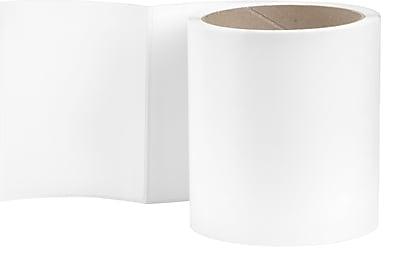 3 x 4 Perfed White Permanent Adhesive Thermal Transfer Roll Sato Compatible Label/Ribbon Kit