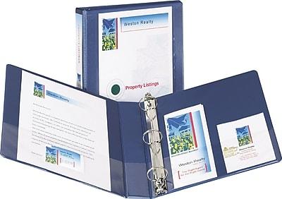 Avery Design Edge 1.5-Inch D 3-Ring View Binder, Metallic Blue (68083)