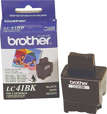 Brother Ink Cartridge, LC41 (LC-41BK), Black