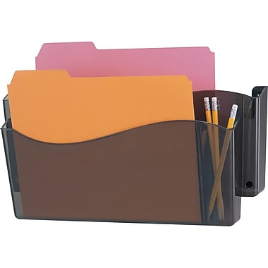 Officemate® 4-in-1 Unbreakable Wall File, 2 Pockets, Smoke