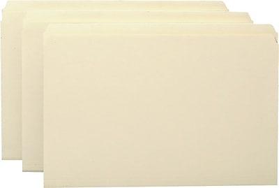 Staples® Manila File Folders, Legal, Single Tab, 100/Box