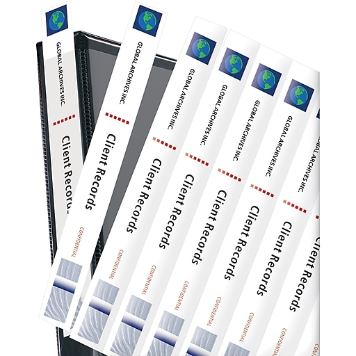 Avery 1 White Binder Spine Inserts 1pk Of 40