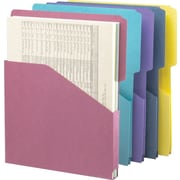 "Smead Organized Up Expanding Slash Jacket, 2/5-Cut Tab, 1"" Expansion, Letter Size, Assorted Colors, 5 per Pack (75445)"