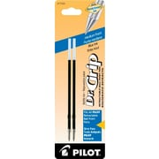 Pilot Dr. Grip Ball Point Retractable Refill, Medium Point, Blue, 2/Pack (77228)