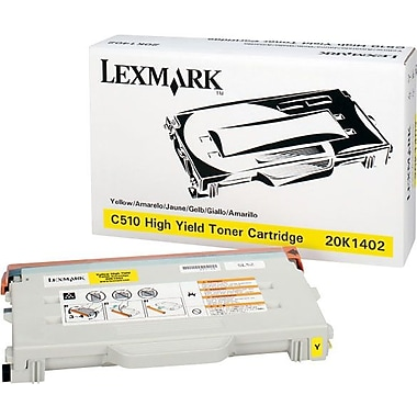 Lexmark Yellow Toner Cartridge (20K1402), High Yield