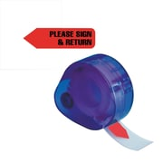 "Redi-Tag® Red ""Please Sign & Return"" Flags with Dispenser, Each"