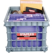 Staples® File Storage Crates, Gray