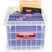 Staples File Storage Crates, Letter or Legal Size Hanging Files (0261STFR.06)