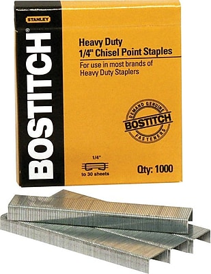 Stanley Bostitch® Heavy-Duty Premium Staples , 1/4