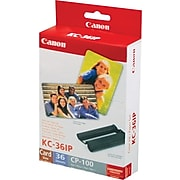 Canon KC-36IP Black / Color Print Cartridge / Paper Kit, Standard Yield