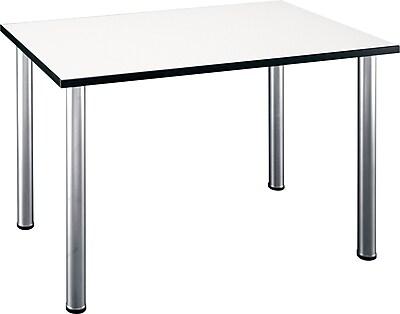 Bush Business Furniture Aspen 57W x 29D Large Rectangle Table in White Spectrum, (TS85202)