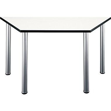 Bush Business Furniture Aspen 57W x 24-3/4D Trapezoid Table, White Spectrum (TS85203)