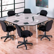 Bush Business Furniture Aspen 57W x 24-3/4D Trapezoid Table, Hansen Cherry (TS85403)